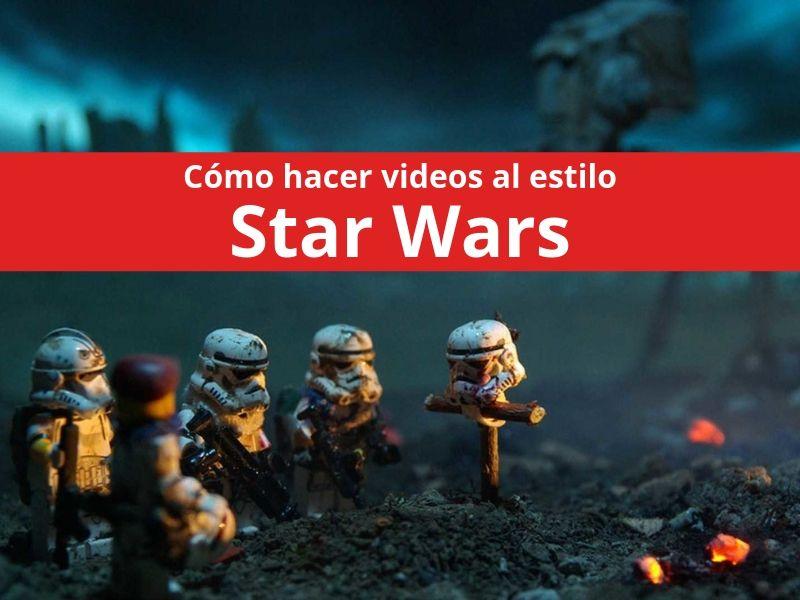 efecto de video star wars